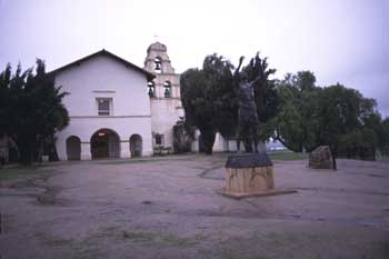 Mission Church and Statue